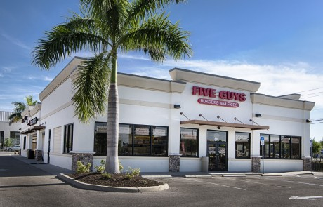 Five Guys- Ada's Natural Market- Part of College Plaza at US 41 & College Parkway in Fort Myers, which also includes Radio Shack, Tijuana Flats, Five Guys, Pet Supermarket, West Marnie, Bank United and Mattress Inc.