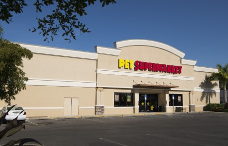 Pet Supermarket- Ada's Natural Market- Part of College Plaza at US 41 & College Parkway in Fort Myers, which also includes Radio Shack, Tijuana Flats, Five Guys, Pet Supermarket, West Marnie, Bank United and Mattress Inc.