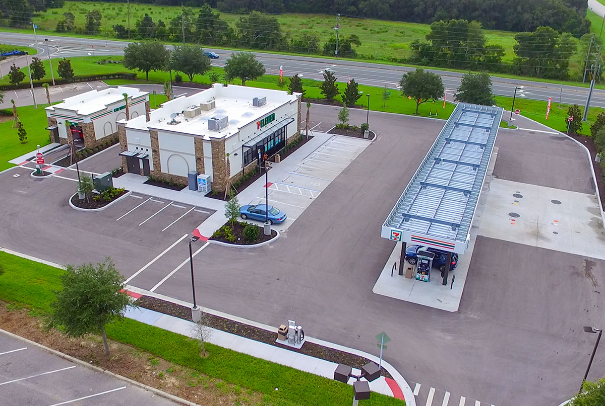 7-Eleven in Spring Hill, Florida Drone Image by Creighton Development